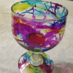 Using Alcohol Ink on Glass by Tim Holtz