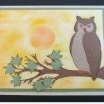 Cricut Owl Card using Animal Kingdom Cartridge