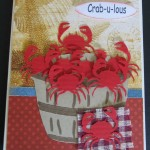 Crab Card using My Pink Stamper and Pazzles