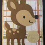 Cricut Deer Card Using Create A Critter Cartridge and My Pink Stamper