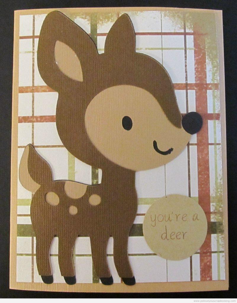 You're a Deer - Deer on Create A Critter Cricut Cartridge