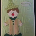 Cricut Clown Card Using Paper Doll Dress Up Cricut Cartridge