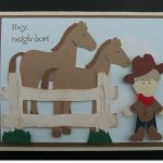 Cricut Horse Card Using Animal Kingdom and Paper Doll Dress Up Cricut Cartridges