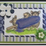 House Mouse Card Using Copic Markers and Stampin' Up Designer Paper