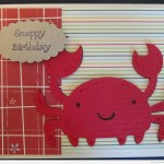 Crab Birthday Card Using Create A Critter Cricut Cartridge