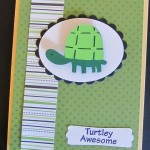 Turtley Awesome by My Pink Stamper - Turtle from Walk In My Garden Cricut Cartridge