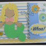 Paper Doll Dress Up Mermaid Cricut Card
