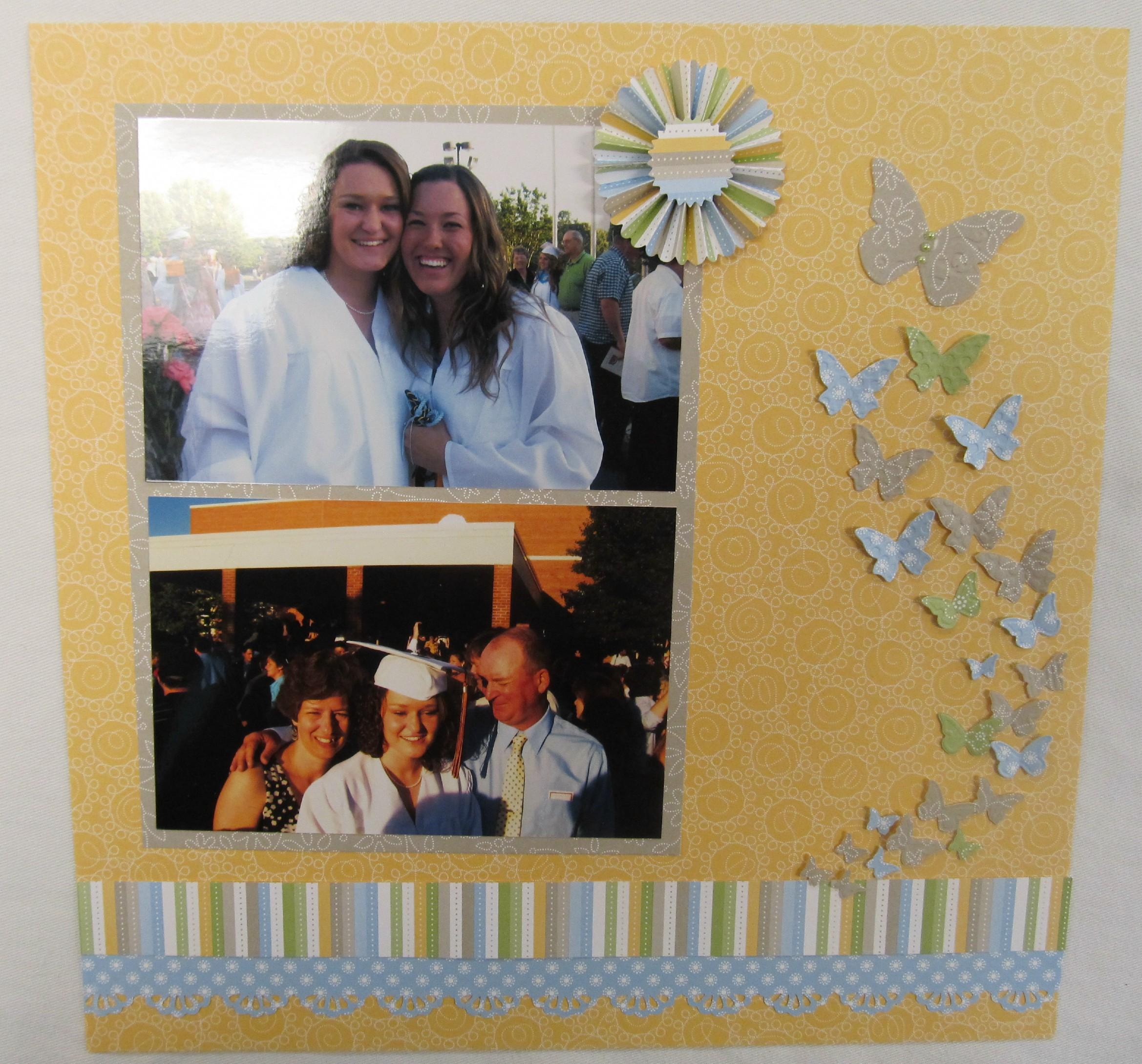 Scrapbook ideas high school - Graduation Scrapbook Page Example