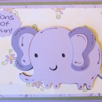 Elephant and Snail Cards Using Create A Critter Cricut Cartridge
