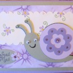 Snail Mail by My Pink Stamper - Snail by Create A Critter Cricut Cartridge