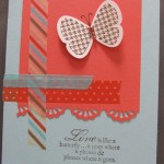 Card Using Stampin' Up Butterfly Prints and Washi Tape