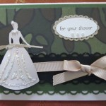 Handmade Hunting Cricut Wedding Card with Camouflage