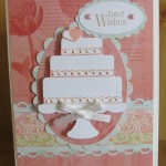 Handmade Wedding Card Made With the Cricut