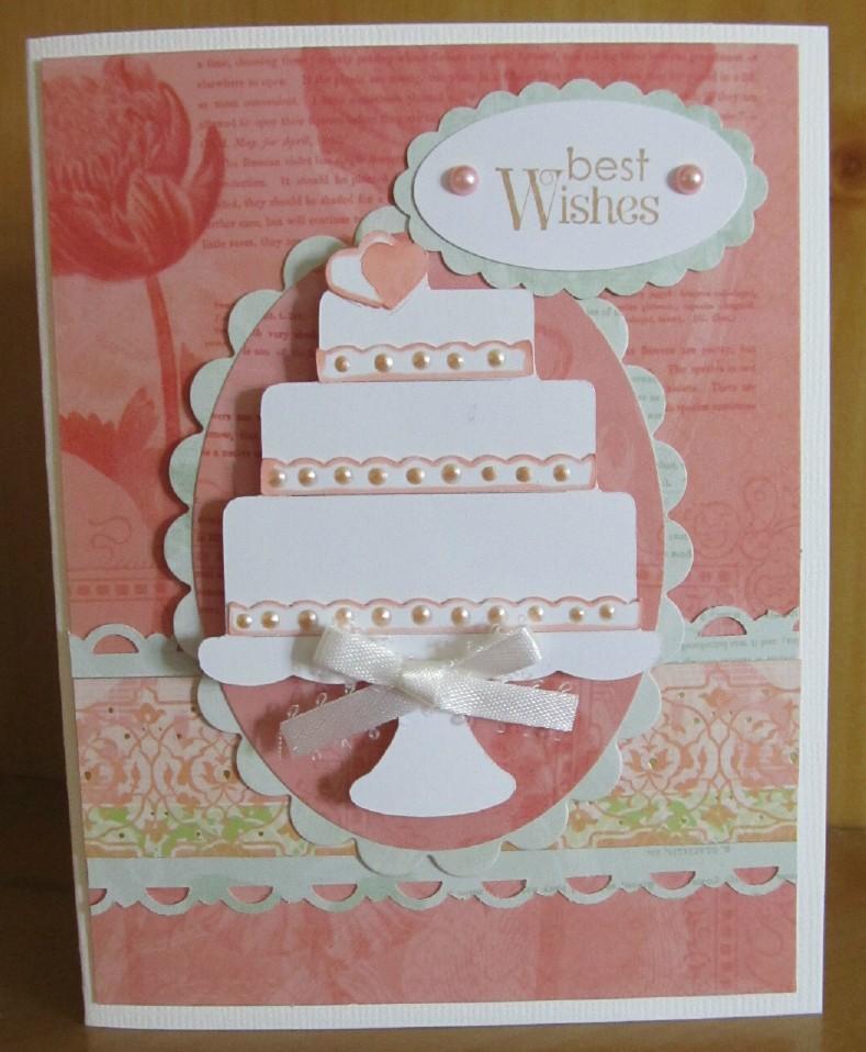 Handmade Wedding Card Made With The Cricut
