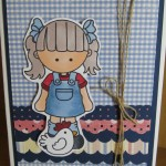 Handmade Farm Girl Card