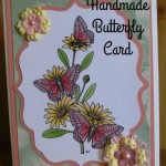 Handmade Butterfly Card Using Delicious Doodle Digistamp