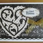 Cricut Wedding or 50th Anniversary Card Using Solutions Cricut Cartridge