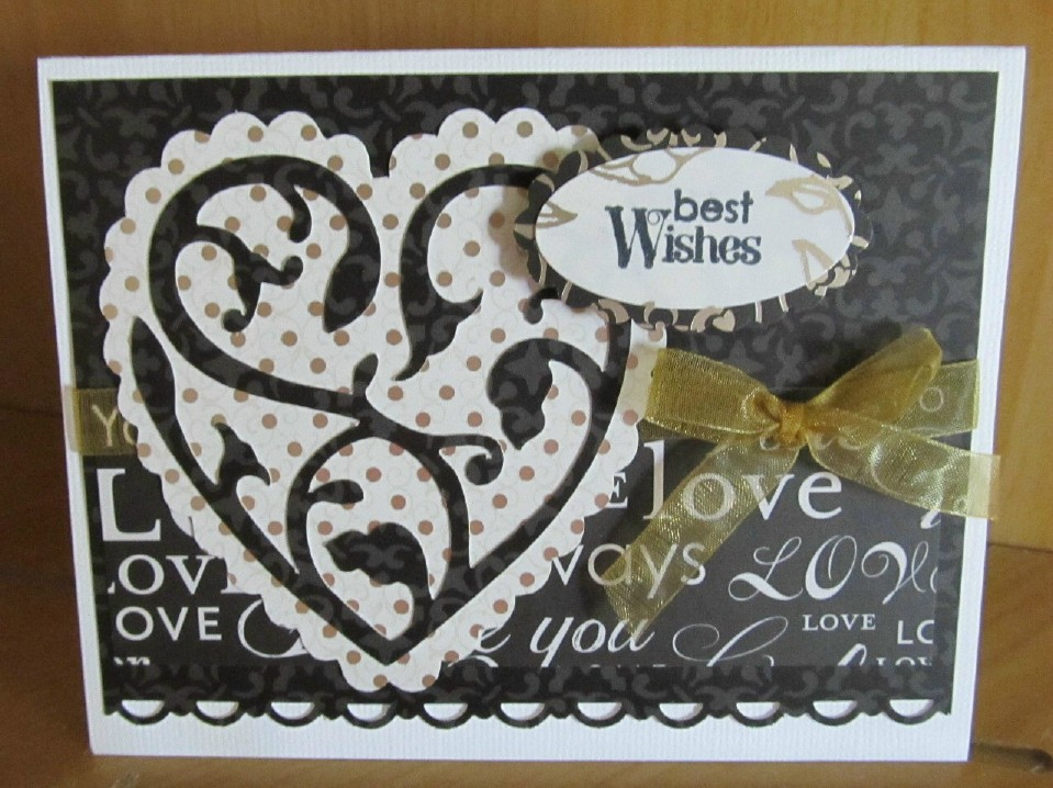 Cricut wedding card ps i love you