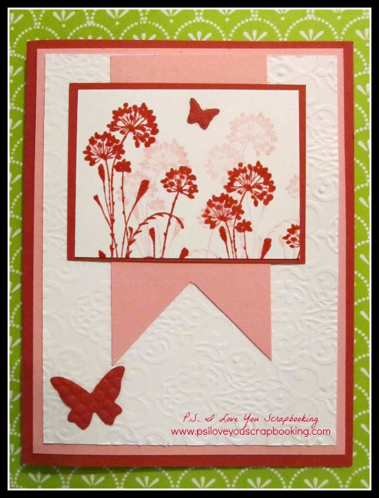 Handmade Card Using Serene Silhouettes by Stampin' Up - P.S. I Love You Scrapbooking - www.psiloveyouscrapbooking.com