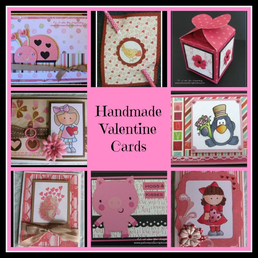 Handmade Valentine Cards - PS I Love You