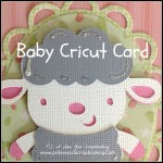 Baby Lamb Cricut Card