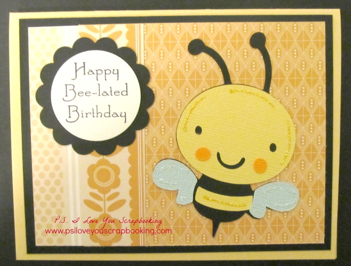 create a critter bee-lated bday card