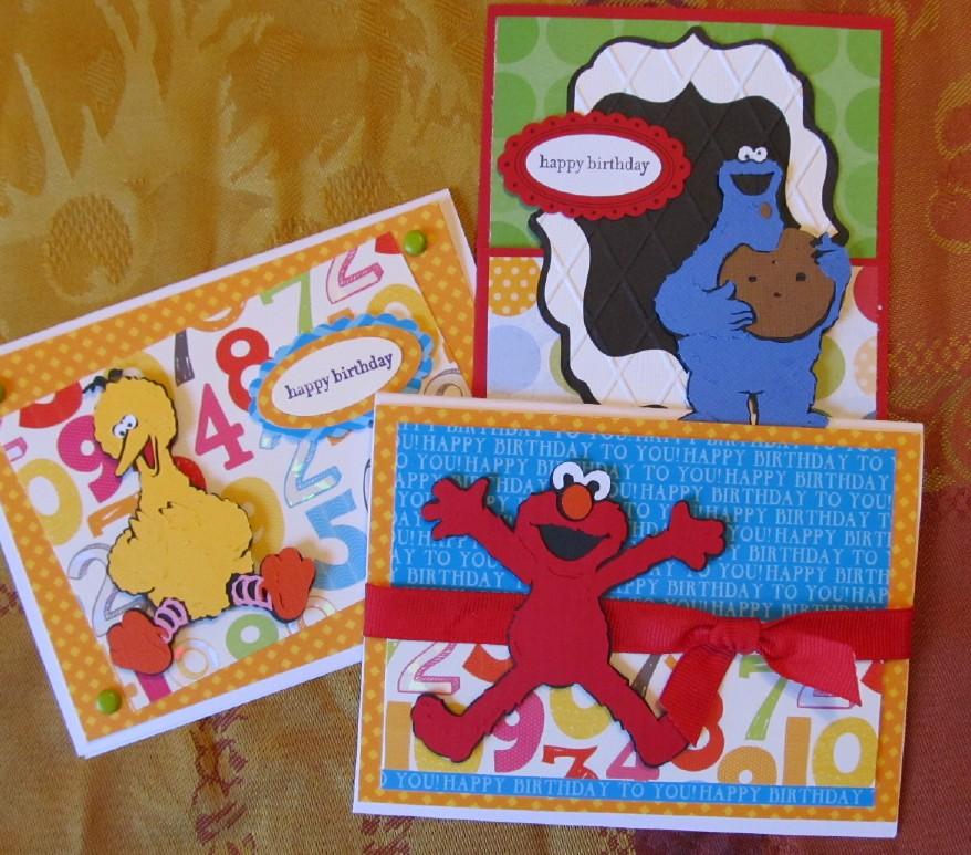 Elmo Birthday Card gangcraftnet – Birthday Card Crafts