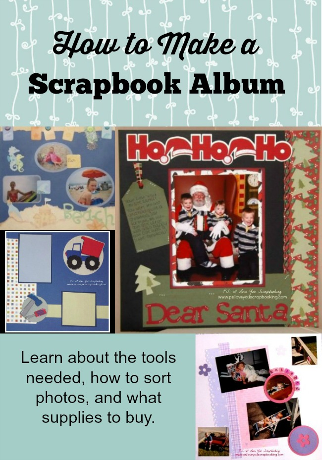 Learn how to make a scrapbook album. From what tools you need, what kind of adhesive to use, and how to sort your photos, you will be on your way to making a keepsake in no time! I wish I had known all of this when I first started!