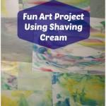 Shaving Cream Art Project for Kids