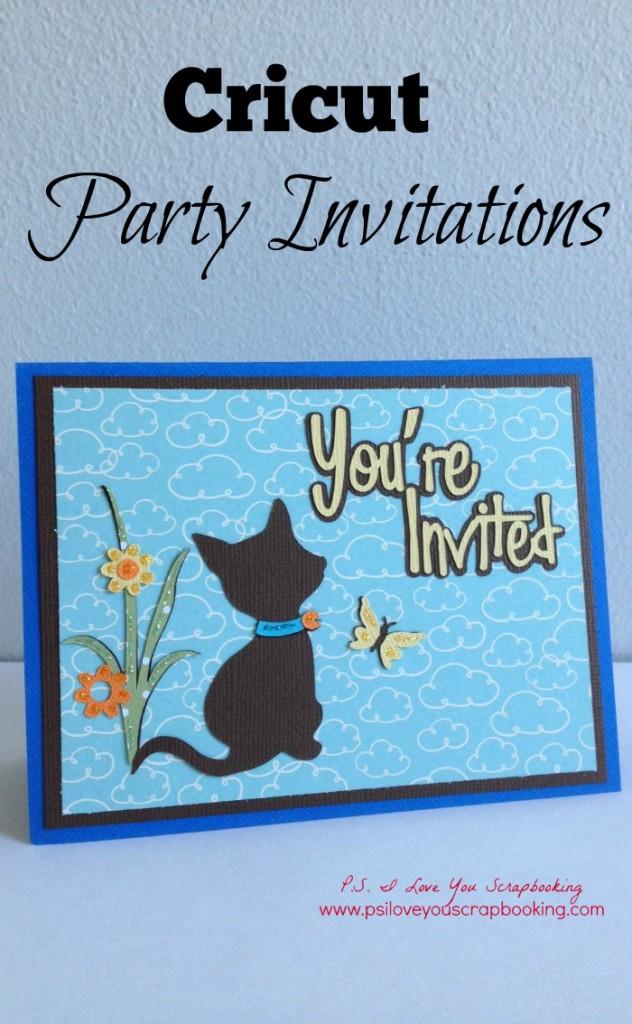 Cricut Party Invitations title