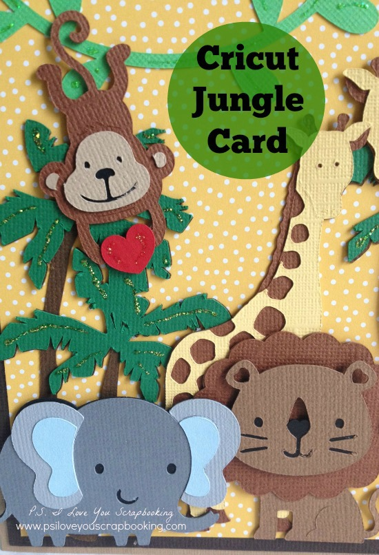 Jungle Cricut Card Title