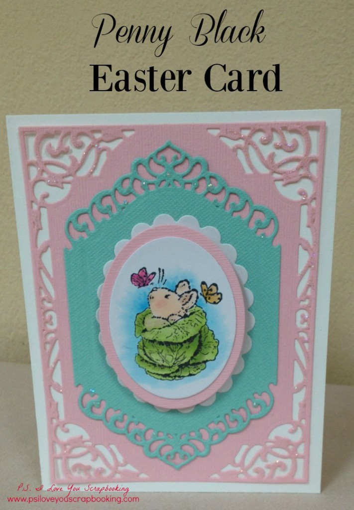 Penny Black Easter Card Cabbage title