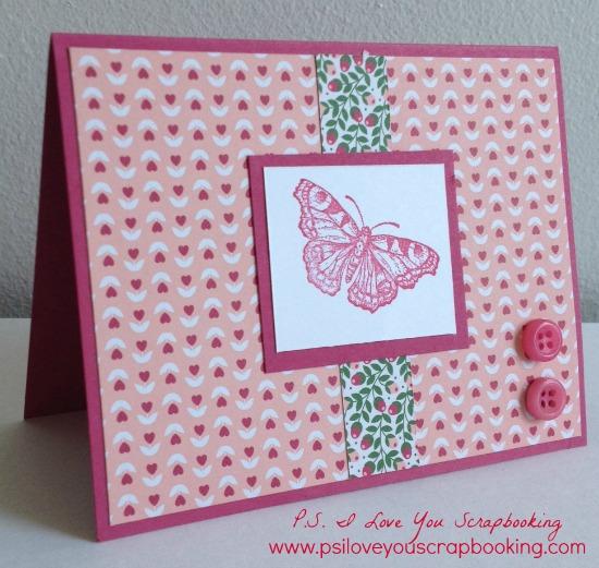 butterfly handmade card