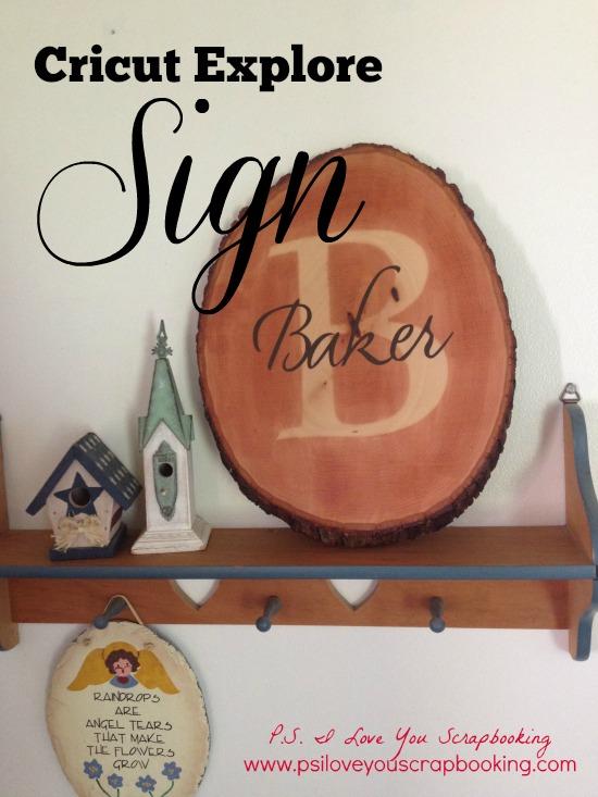 cricut explore sign title