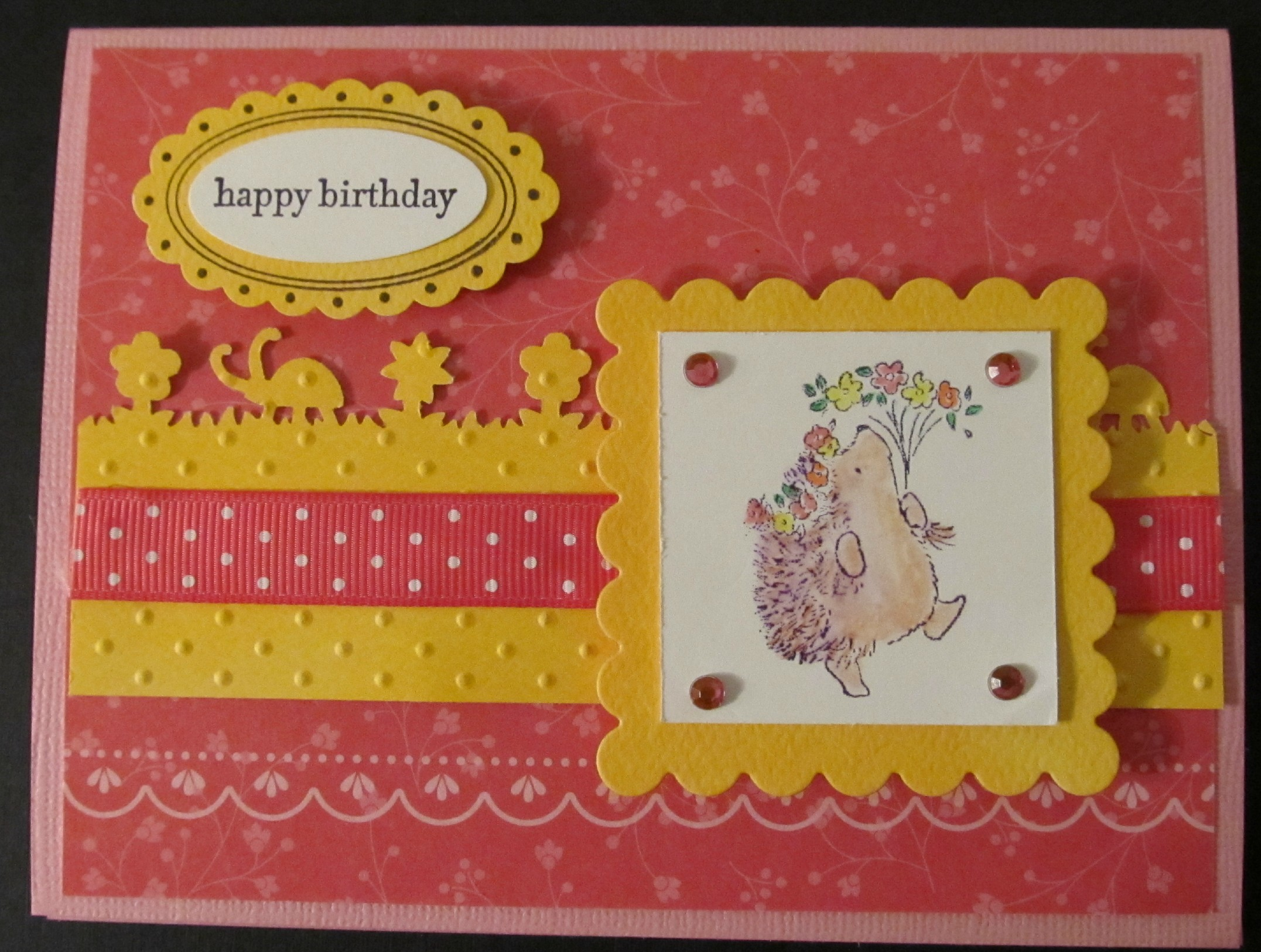 Happy birthday butterfly card allfreepapercrafts com - Penny Black Rubber Stamps Hedgehog Birthday Card