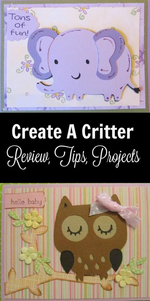 Create A Critter Cricut Cartridge Review Title