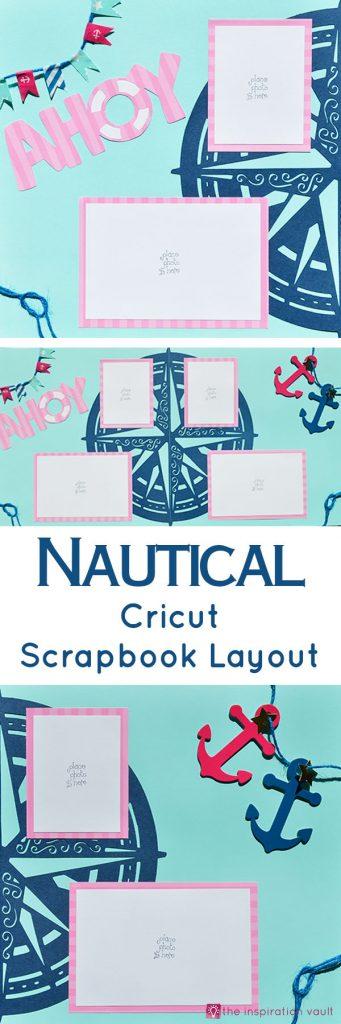 Nautical Cricut Scrapbook Layout Craft Tutorial