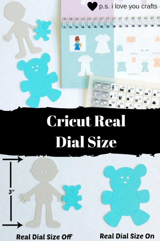 Cricut Real Dial Size