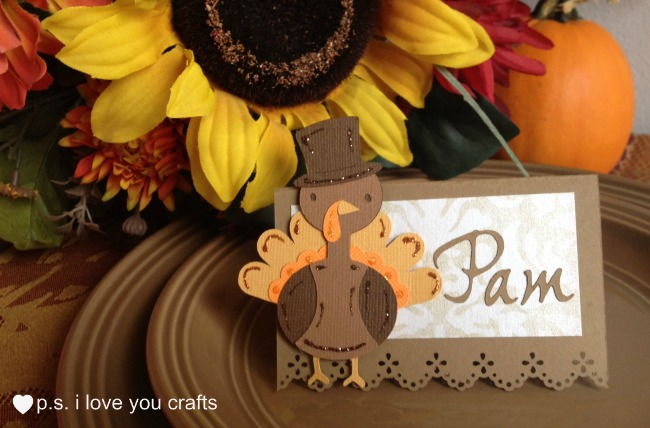 Thanksgiving place card with cricut turkey here are 20 fall paper