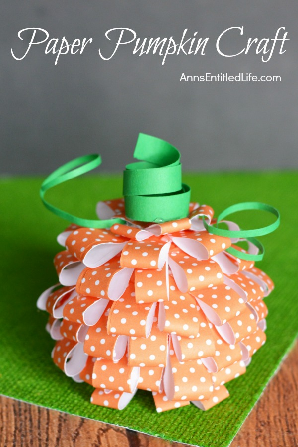 20 awesome fall paper crafts to make today p s i love you crafts - Making a pumpkin keg a seasonal diy project ...