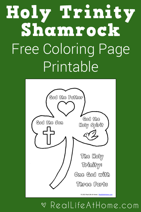 holy trinity shamrock coloring page st patrick 39 s day paper crafts p s i love you crafts