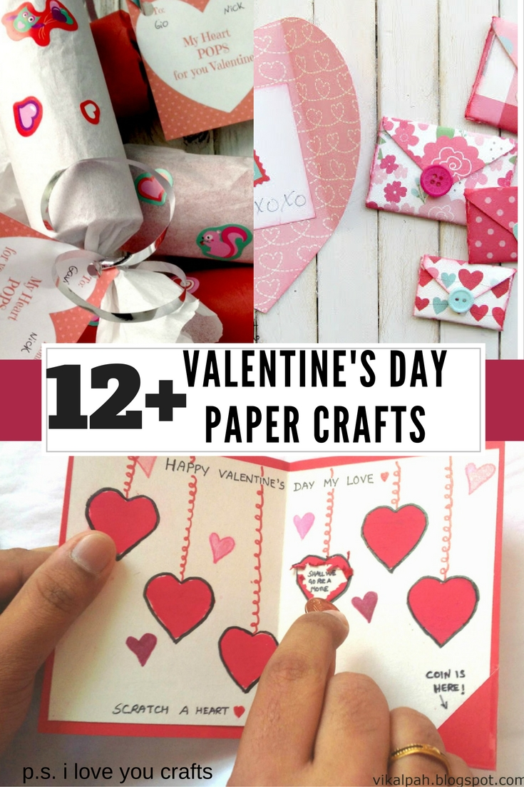 I Love You Crafts Valentines Day Paper Crafts Ps I Love You Crafts