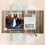 Using Your Scraps to Make a Wedding Scrapbook Layout
