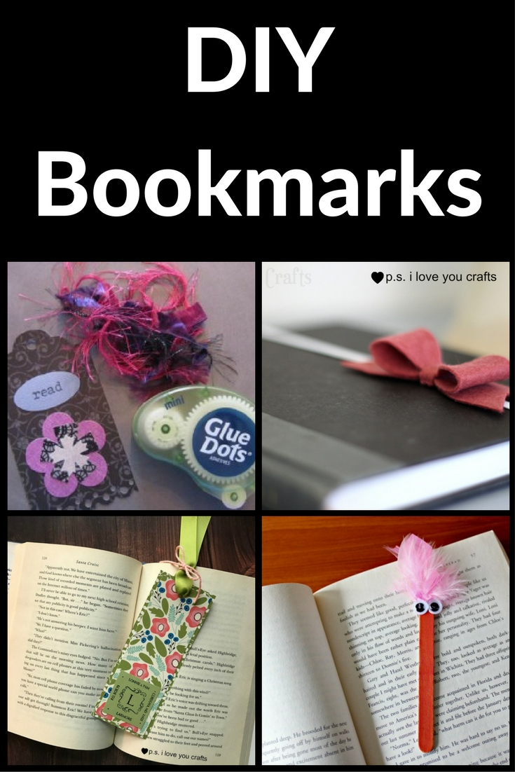 Diy bookmark ideas for kids and adults p s i love you for Cool ways to make bookmarks