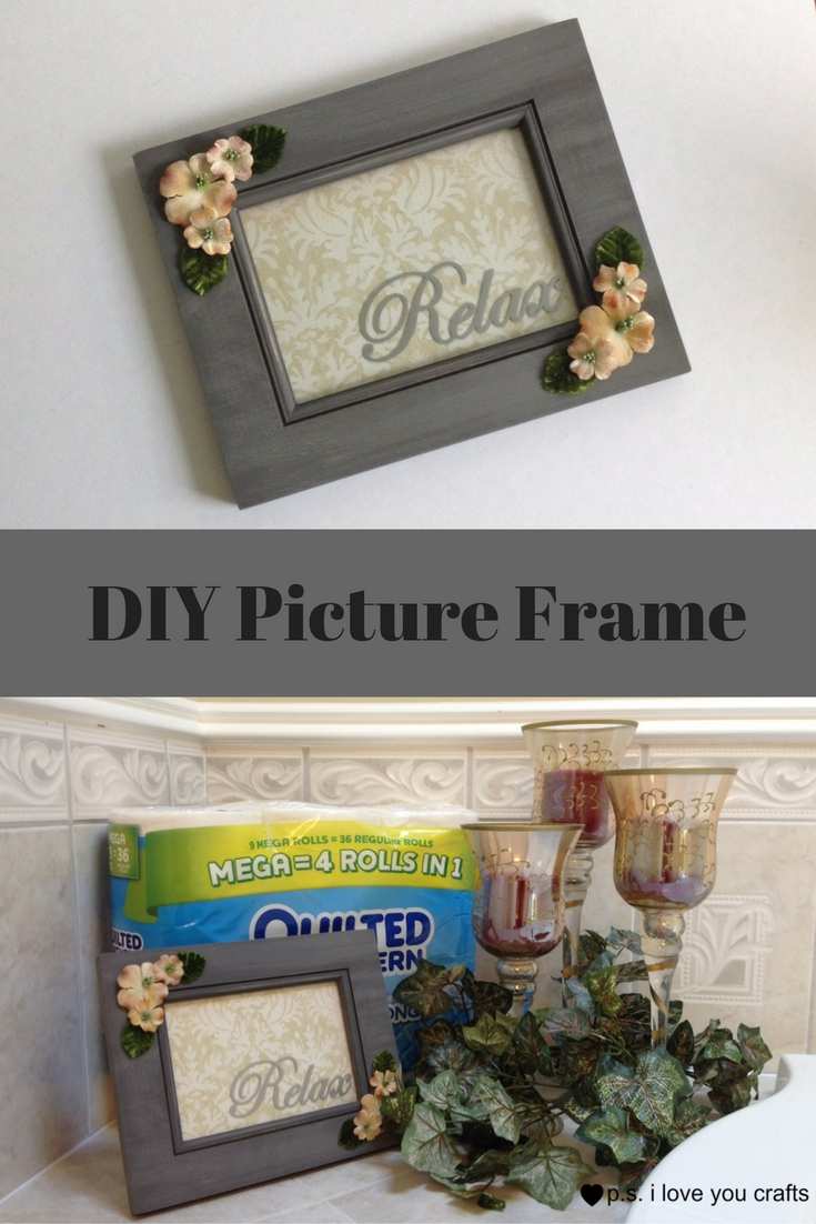 Make a DIY Picture Frame by PS I Love You Scrapbooking